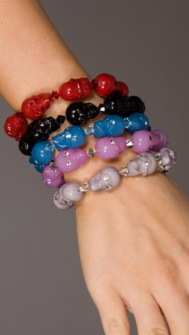 Tarina Tarantino Skull Bracelet *Many Colors Available*