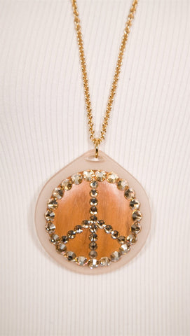 Tarina Tarantino Lucite Pendant Necklace Clear