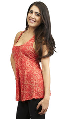 Testament Scoop Tank in Coral
