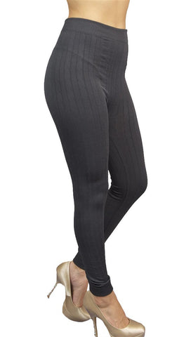 Thorn Guarden Knit Pattern Leggings in Grey