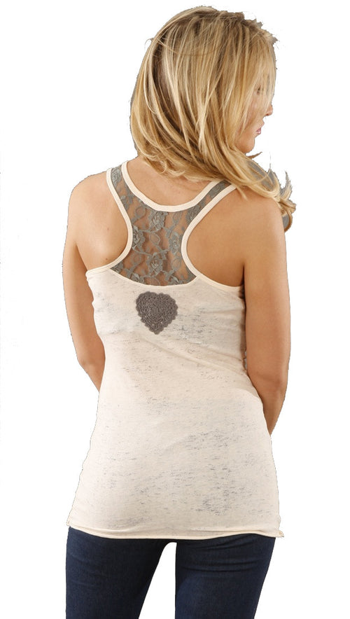 Threads 4 Thought Lace Burnout Racerback Tank in Petal Pink