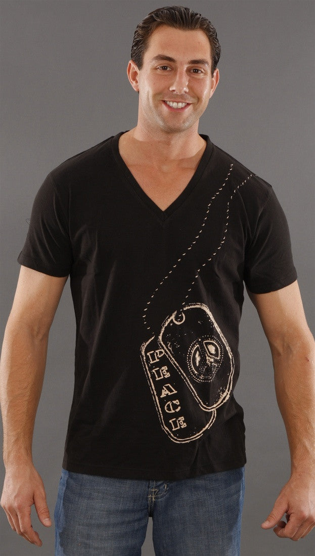 Threads 4 Thought Dogtag Tee in Black