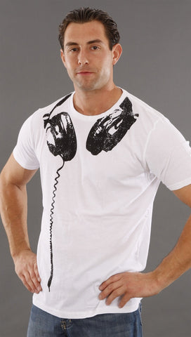 Threads 4 Thought Headphone Tee in White
