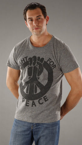 Threads 4 Thought Fight For Peace Tee in Gray