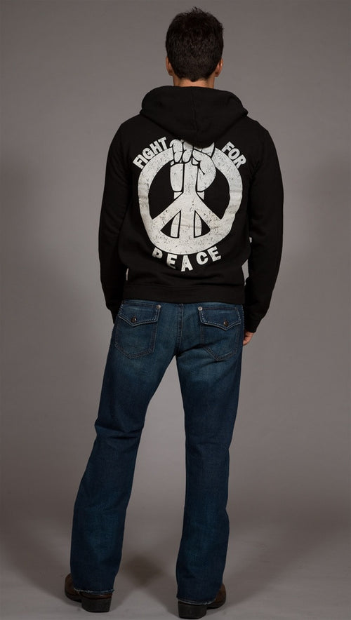 Threads 4 Thought Men's Fight for Peace Hoodie
