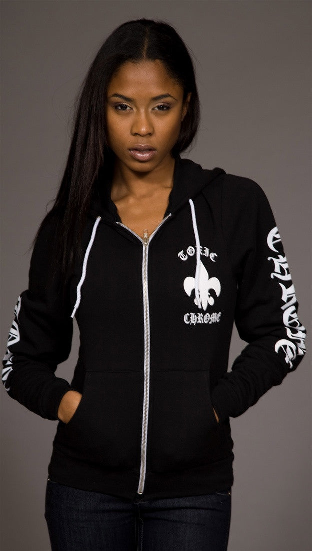 Toxic Chrome Wings Hoodie Unisex Black