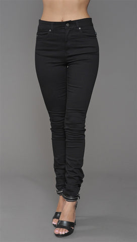 Tripp NYC High Waisted Skinny Jean in Black
