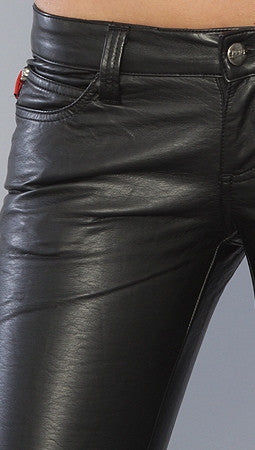 Tripp NYC The Deville Pleather Pant in Black