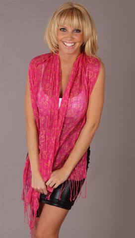 Troo Peace Scarf Pink