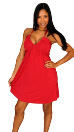 Tart Collections Anisa Halter Dress in Red
