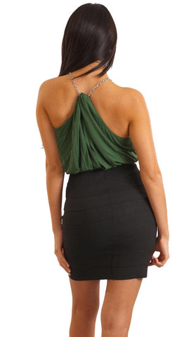 Tart Collection High Neck Laura Bandage Dress in Green