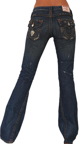 True Religion Joey Boot Cut Dark Denim Jeans