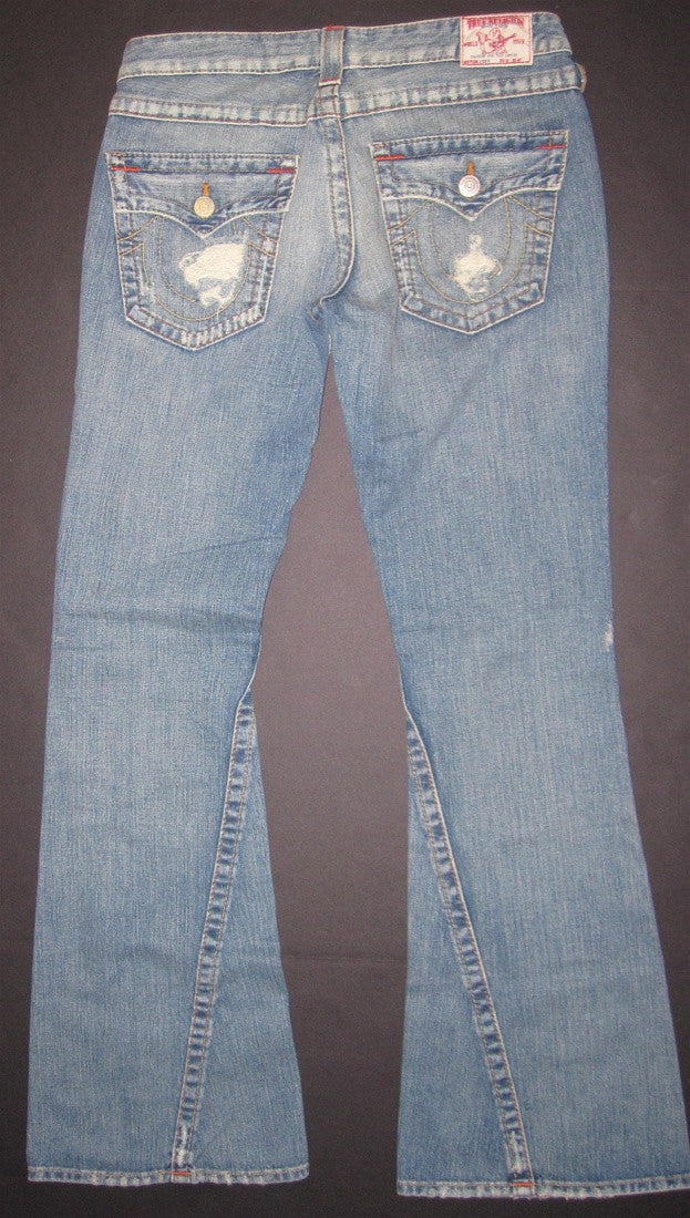 True Religion Joey Rigid in Cowgirl Destroyed