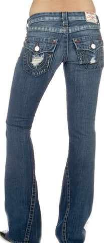 True Religion Joey Rigid in Dark Cowgirl Destroyed