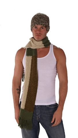 True Religion Mixed Cable Scarf Green