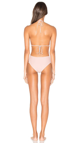 Tularosa Haven One Piece Cut Out Swim in Pale Pink