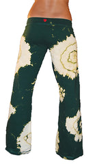 Twisted Heart Tie Dye Rhinestone House Drawstring Pants Alpine Green