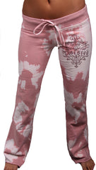 Twisted Heart Tie Dye Rhinestone House Drawstring Pants Parfait