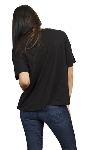 Toxxy Glamourous Short Sleeve Tee in Black