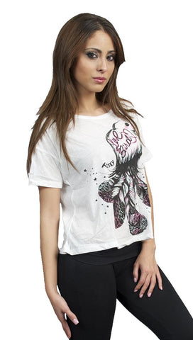 Toxxy Love Bird Short Sleeve Tee in Ivory