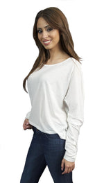 Toxxy Fly Long Sleeve Sweater in Ivory