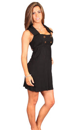 VAVA by Joy Han Voom Petra Collar Sailor Babydoll Dress in Black