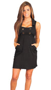 VAVA by Joy Han Voom Petra Collar Sailor Babydoll Dress Black