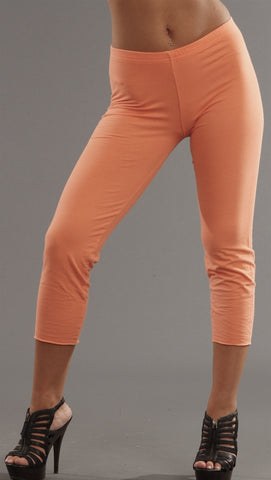 Kinkate Cotton Spandex Crop Leggings