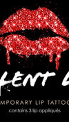 Violent Lips Glitteratti Lip Tattoo in Red