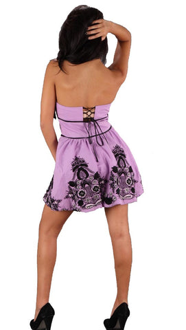 VAVA by Joy Han Voom Jenn Victorian Strapless Dress Purple