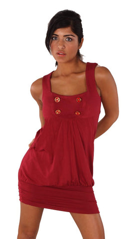 Vava Petra Bubble Dress Red