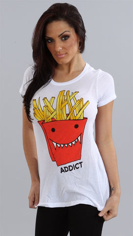 Wildfox Couture French Frie Addict in White