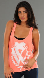 Wildfox Couture Logo Baggy Boy Tank in Orange