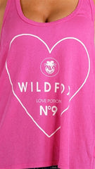 Wildfox Couture #9 Love Baggy Boy Tank in Magenta
