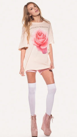 Wildfox Couture Tres Rose Favorite T in Dionne