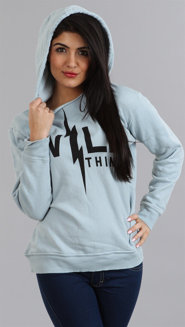Wildfox Couture Wild Thing Oversize Hoodie in Acid Wash