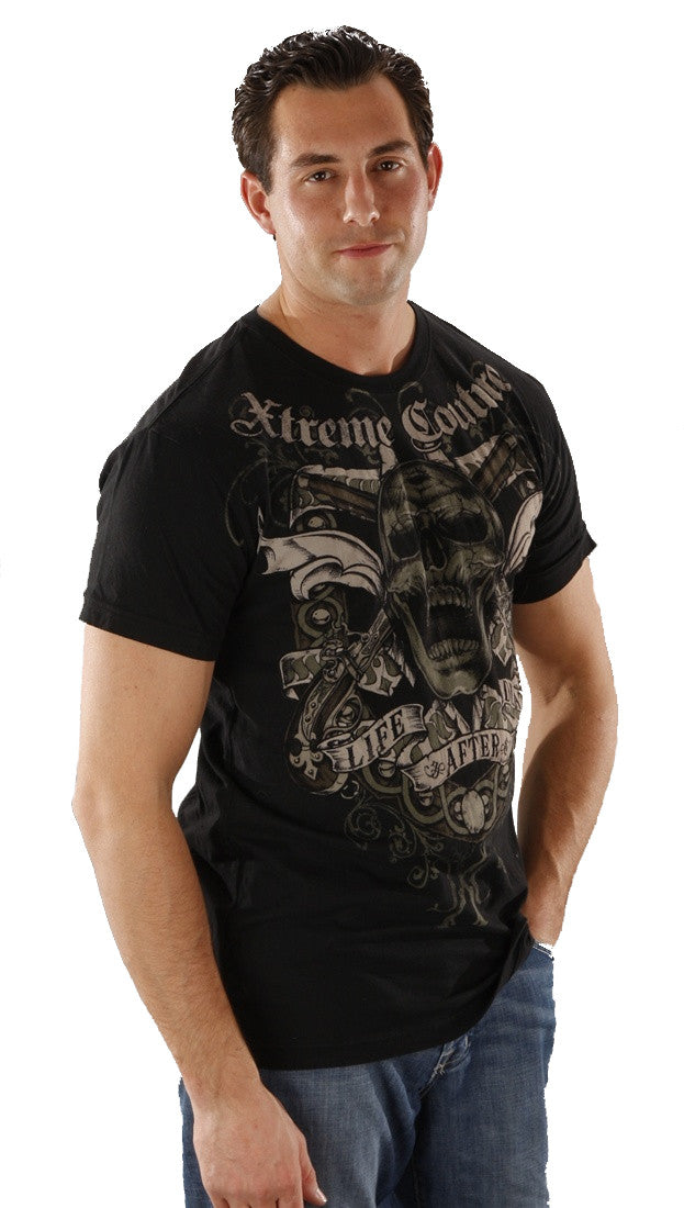 Xtreme Couture Life After Death Tee in Black