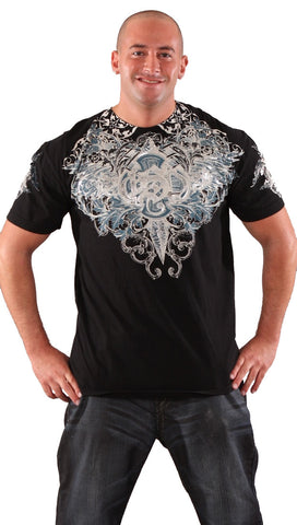 Xtreme Couture Mens GSP Migrate Foil Graphic Tee Shirt Black