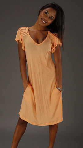 Young Fabulous & Broke Karen Dress in Sorbet
