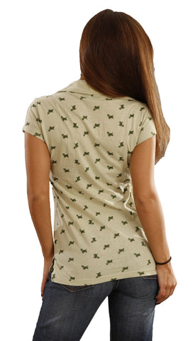 Zendo Couture Scottie Dog Polo in Sage