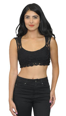 Cheryl Black Lace Crop Top Bralette