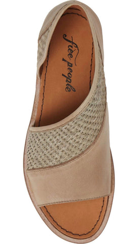 Free People Mont Blanc Sandal Green Textured Slip On D'Orsay Shoes | ShopAA