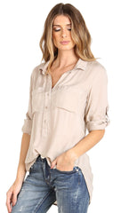 Bella Dahl Pullover Placket Shirt Blush