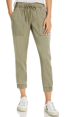 Bella Dahl Patch Pocket Jogger Pants Soft Army Olive Green | ShopAA