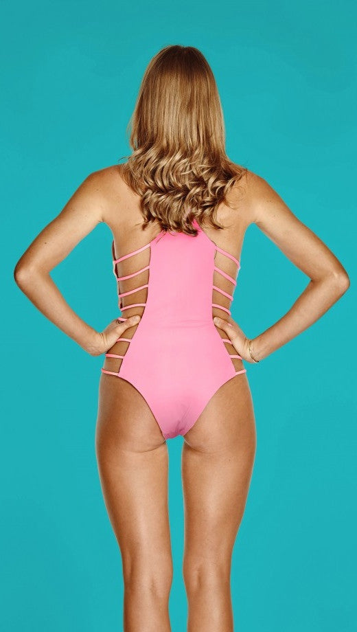 Capittana Bettina Rainbow Reversible Pink One Piece Monokini