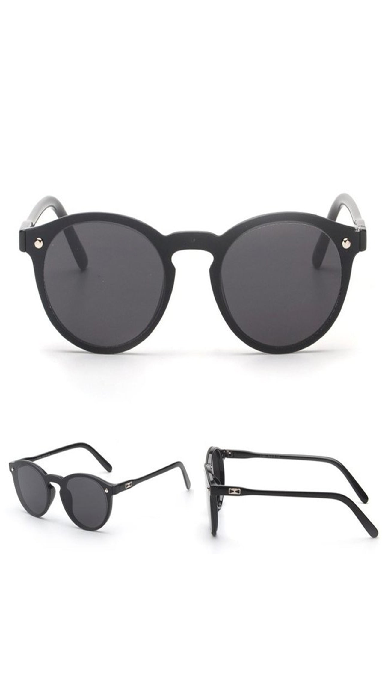 Fashion Shades Mirror Reflective Single Lens SUnglasses Black