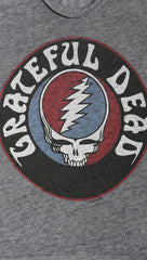 Chaser Grateful Dead Steal Your Face Logo Shirt Streaky Grey | ShopAA