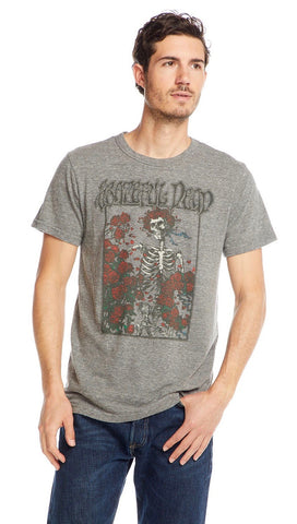 Chaser LA Grateful Dead Skeleton Box of Roses Triblend Mens Tee