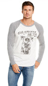 chaser la mens shirt grateful dead vintage baseball tee grey raglan shirt shopaa