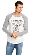 chaser la mens shirt grateful dead triblend jersey baseball grey raglan tee